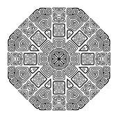 Turno ornamento design, stile etnico — Vettoriale Stock