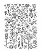 Floral pattern sketch for your design — Stock Vector