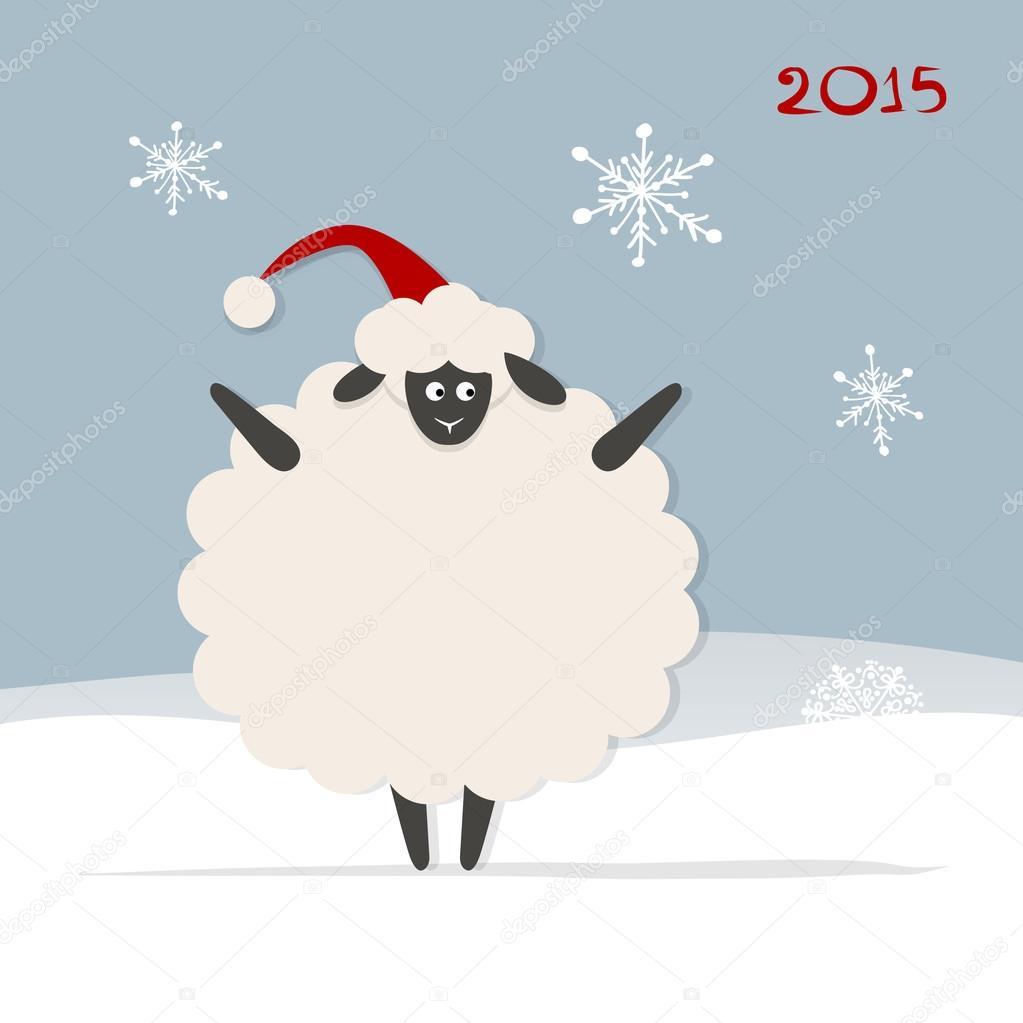 Symbol Sheep Funny Sheep Santa Symbol of