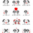 Couple in love together, valentine sketch for your design — Vetor de Stock  #62751533