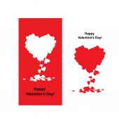 Valentine card with heart shape for your design — Stock Vector