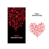 Valentine card with heart shape for your design — Stok Vektör