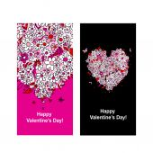 Valentine card with heart shape for your design — Διανυσματικό Αρχείο