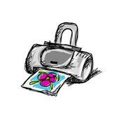 Printer sketch for your design — Stock Vector