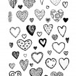 Set of valentine hearts for your design — Stock Vector #73416569