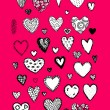 Set of valentine hearts for your design — Stock Vector #73766901