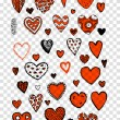 Set of valentine hearts for your design — Stock Vector #73767005
