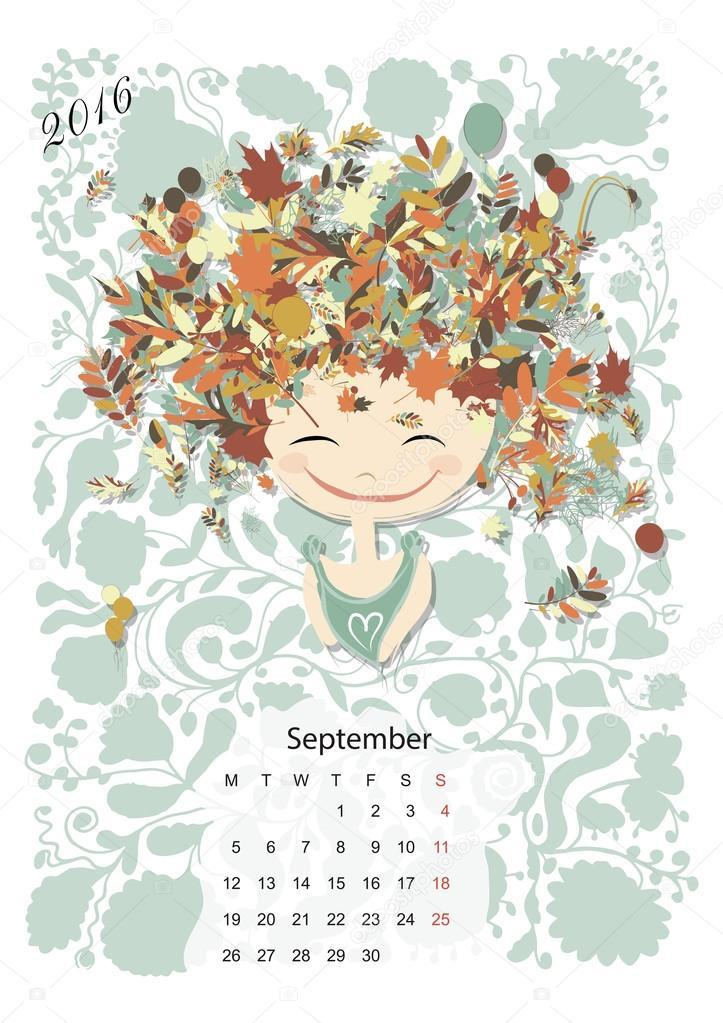 Календарь Планировщик Сентябрь 2009