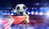Football kick — Stock Photo