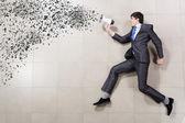 Running businessman — Stock Photo