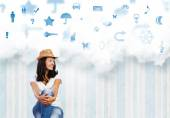 Lady dreaming about future — Stock Photo