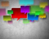 Background with speech balloons — Stock Photo
