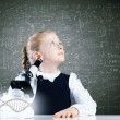 School girl at lesson — Stock Photo #52528341