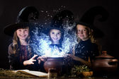 Little witches — Stock Photo