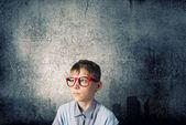 Gözlüklü liseli — Stok fotoğraf