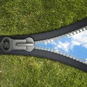 3 D zipper — Stock Photo
