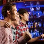 Young men watching match — Stock Photo #52589405