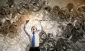 Powerful businessman — Stock Photo