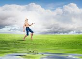Boy with fishing rod — Stock Photo