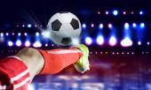 Puntapié del fútbol — Foto de Stock