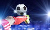 Fotboll kick — Stockfoto