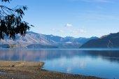 新西兰的阿尔卑斯山和湖 — 图库照片