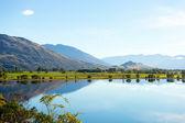 New Zealand alps and lake — Stok fotoğraf