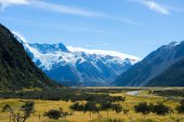New Zealand alps and glaciers — Stock Photo