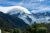 New Zealand alps and glaciers — Stockfoto