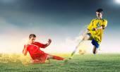 Юные футболисты — Стоковое фото