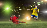 Young football players — Stock Photo