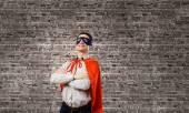 Confident superhero — 图库照片