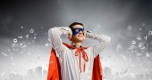 Frustrated superman — Stock Photo