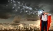 Супермен игры скрипка — Стоковое фото