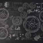 Cogwheels and gears — Stock Photo #53464357