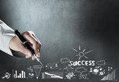 Achieving success — Stock Photo