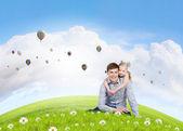 Crianza feliz — Foto de Stock