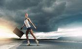 Beautiful traveller girl — Stock Photo