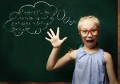 Smart schoolgirl — Stock Photo