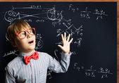 Smart schoolboy — Stock Photo
