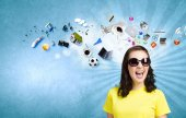 Positiva tonåring — Stockfoto