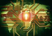 Micro-chip — Stockfoto
