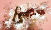 Violinista donna — Foto Stock