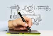 Graphic designer — Stock Photo