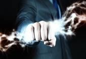 Power in hands — Stock Photo