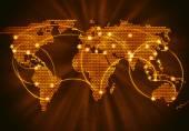 Interazione globale — Foto Stock