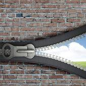 Opened zipper — Stock Photo