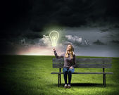 Idea brillante — Foto Stock