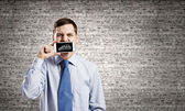 Guy with mobile phone — Stock Photo