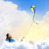 Woman with kite — Stock Photo